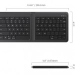 Microsoftが、折りたたみ型Bluetoothキーボード「Microsoft Universal Foldable Keyboard」を9月24日に発売