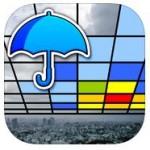 スマートフォンに、日本気象協会がリリースした『Go雨!探知機 -XバンドMPレーダ-』を入れておくと便利です。