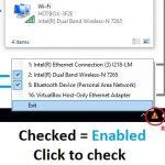 タスクバーからネットワークインターフェイスをオン/オフに切り替えるWindows用タスクバーアプリケーション「NetSwitch」