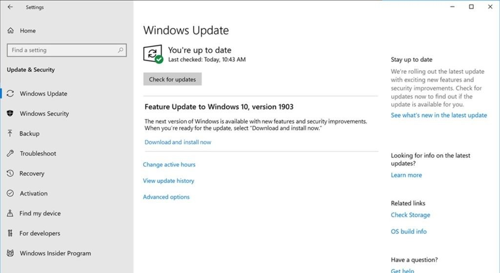 Windows 10 May 2019 Update(バージョン 1903)