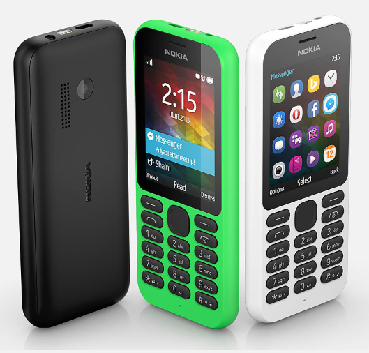 Microsoftが、Nokiaブランドで3500円の携帯電話「Nokia 215」とデュアルSIM版の「Nokia 215 Dual SIM」を発表しました。