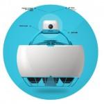 GoFlyが、1軸(シングルローター)の自立飛行のできるカメラドローン「Flyeye」を開発