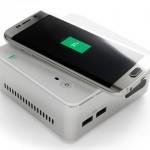 リンクスインターナショナルが、「Qi」に対応したスマートフォンやタブレットを充電可能な小型PC「ECS LIVE STATION」を4月9日に発売すると発表